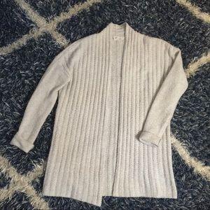 GAP light gray long sweater cardigan